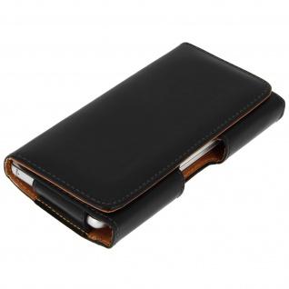 Universal Gürteltasche für Smartphones: max. Abmessungen von 143x153mm - Schwarz