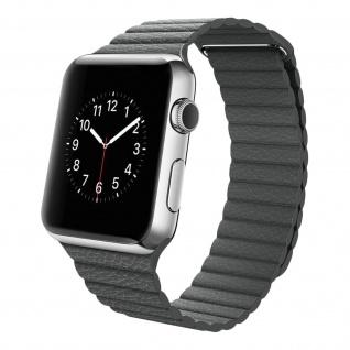 Apple Watch 42 / 44mm Premium-Leder Armband, Lederarmband ? Grau