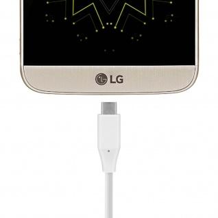 Original LG USB-C/USB-C Ladekabel - Aufladen & Synchronisierung - Weiß - Vorschau 2