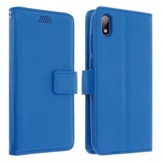 Huawei Y5 2019 Flip-Cover mit Kartenfächern & Standfunktion - Blau