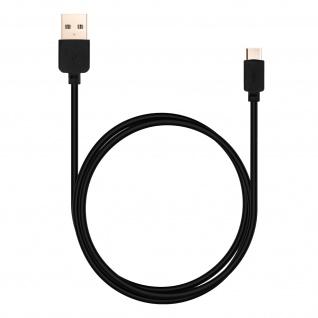 USB-Typ C / USB Ladekabel 1m - Aufladen & Synchronisierung - Schwarz