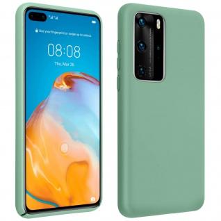 Halbsteife Silikon Handyhülle Huawei P40 Pro, Soft Touch - Grau