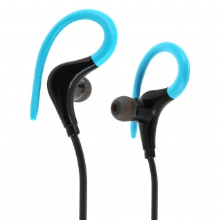 Bluetooth-Sport-Kopfhörer ? Fernbedienung + Mikrofon ? Blau