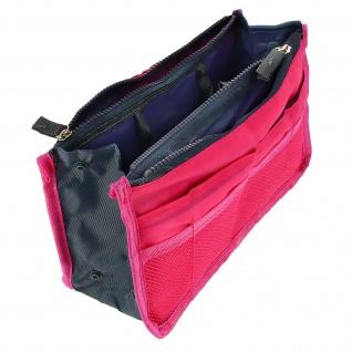 Universelle Tasche mit vielen Fächern - Rosa