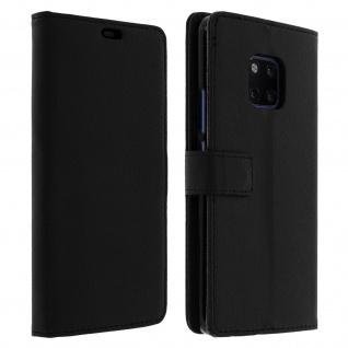 Huawei Mate 20 Pro Flip-Cover mit Kartenfächern & Standfunktion - Schwarz