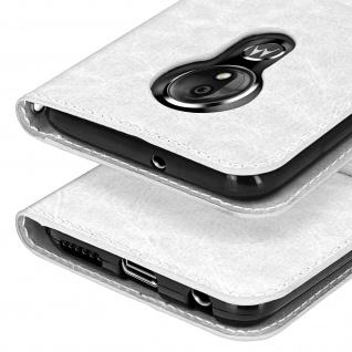 Flip Stand Cover Brieftasche & Standfunktion für Moto G7, Moto G7 Plus - Weiß - Vorschau 5