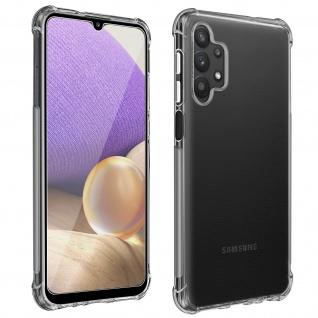 Premium Schutz-Set Samsung Galaxy A32: Schutzhülle + Schutzfolie ? Transparent
