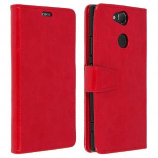 Flip Cover Stand Case Brieftasche & Standfunktion für Sony Xperia XA2 - Rot - Vorschau 1