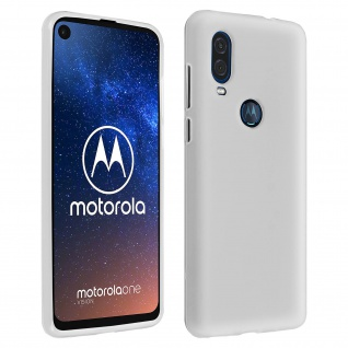 Gelhülle, Backcover für Motorola One Vision / One Action, frosted case - Weiß