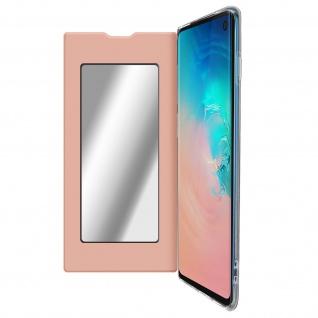 Spiegel Hülle, dünne Klapphülle für Samsung Galaxy S10 - Rosegold