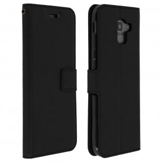 Flip Cover Stand Case Brieftasche & Standfunktion Samsung Galaxy J6 - Schwarz