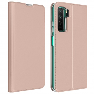 Klappetui mit Kartenfach & Standfunktion Huawei P40 Lite 5G - Rosegold