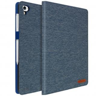 iPad Air / iPad 9.7 2017 /iPad 9.7 2018 /iPad 5 Stoffhülle mit Fächern ? Blau