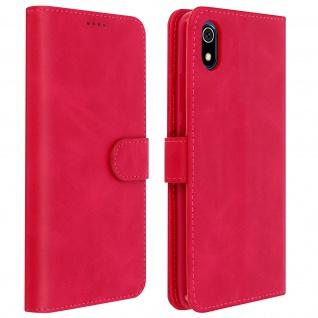 Buffalo Kunstlederetui Xiaomi Redmi 7A, Standfunktion & Kartenfächer - Rosa