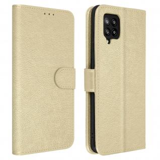 Flip Cover Geldbörse, Etui Kunstleder für Galaxy A42 5G ? Gold