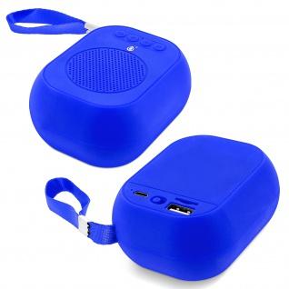 F4314 Bluetooth kabelloser BTS Lautsprecher mit Mikrofon - Blau