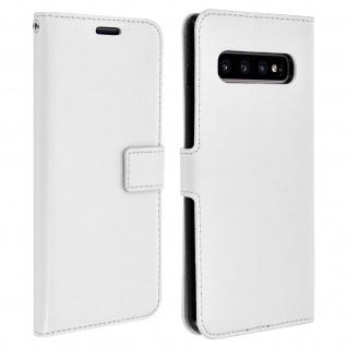 Flip Stand Cover Brieftasche & Standfunktion für Samsung Galaxy S10 Plus - Weiß