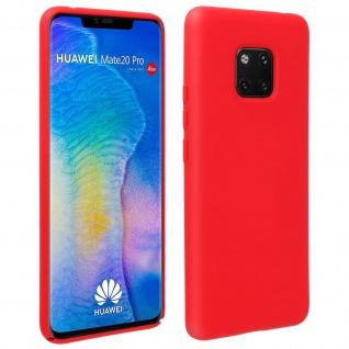 Halbsteife Silikon Handyhülle Huawei Mate 20 Pro, Soft Touch - Rot