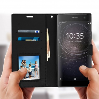 Flip Stand Cover Brieftasche & Standfunktion Sony Xperia XA2 Plus - Schwarz - Vorschau 4