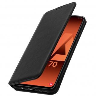 Kunstleder Cover Classic Edition Samsung Galaxy A70 ? Schwarz