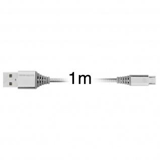 Micro-USB / USB-Ladekabel Aluminium, Aufladen & Synchronisation 1m - Silber - Vorschau 4