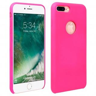 Halbsteife Silikon Handyhülle iPhone 7 +/8 +, Soft Touch - Rosa