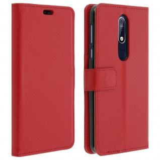 Nokia 7.1 Flip-Cover mit Kartenfächern & Standfunktion - Rot