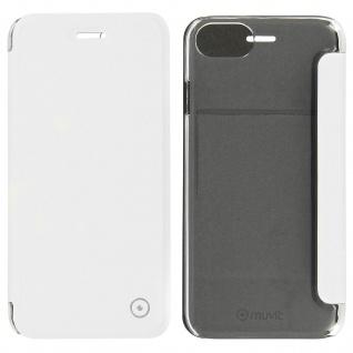 Muvit - Flip-Cover Kartenfach & Crystal Rückseite iPhone 7/ 8, 6/ 6S - Weiß