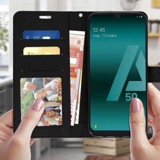 Flip Stand Cover Brieftasche & Standfunktion für Samsung Galaxy A50 - Schwarz - Vorschau 3
