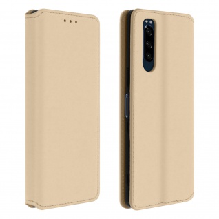 Kunstleder Cover Classic Edition Sony Xperia 5 - Gold