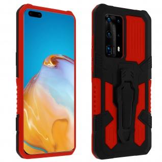 Stoßfeste Handyhülle Huawei P40 Pro, mit Gürtelclip und Ständer - Rot