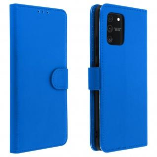 Samsung Galaxy S10 Lite Flip-Cover mit Kartenfächern & Standfunktion - Blau