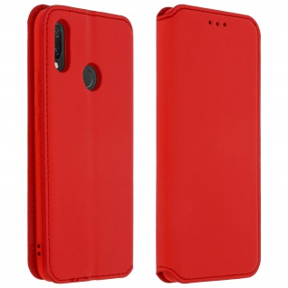 Flip Kunstleder Cover Geldbörse Classic Edition für Huawei P Smart Plus - Rot