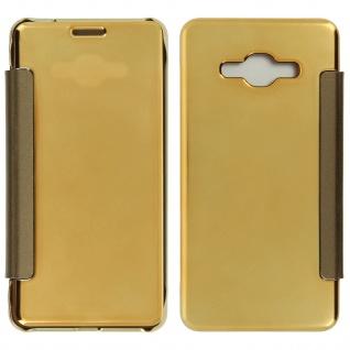 Goldene Clear View Schutzhülle für Samsung Galaxy J3
