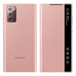 Original Samsung Clear View Cover für Samsung Galaxy Note 20 â€? Rosegold