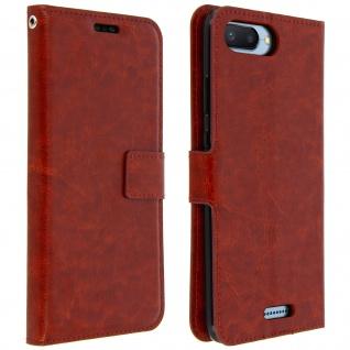 Flip Cover Stand Case Brieftasche & Standfunktion für Xiaomi Redmi 6A ? Braun