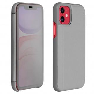 Apple iPhone 11 Flip Cover mit Spiegeleffekt & Standfunktion - Silber