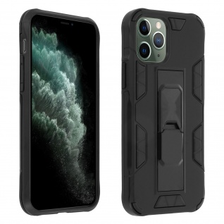 Apple iPhone 11 Pro Handyhülle mit Ständer, Defender Series ? Schwarz