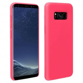 Halbsteife Silikon Handyhülle Galaxy S8, Soft Touch - Fuchsienrot