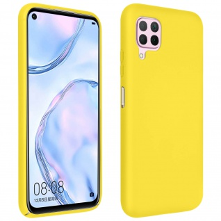 Halbsteife Silikon Handyhülle Huawei P40 Lite, Soft Touch - Gelb