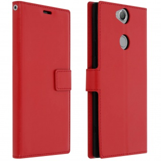 Flip Stand Cover Brieftasche & Standfunktion Sony Xperia XA2 Plus - Rot