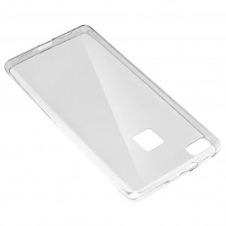 Huawei P9 Lite 360° Rundumschutz - transparente Hülle + Glas-Displayschutzfolie