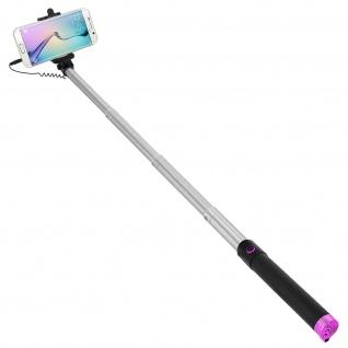 Forever Selfie-Stange ausziehbar, 3.5mm Klinkenstecker 145° schwenkbar - Rosa