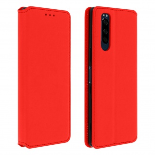 Kunstleder Cover Classic Edition Sony Xperia 5 - Rot