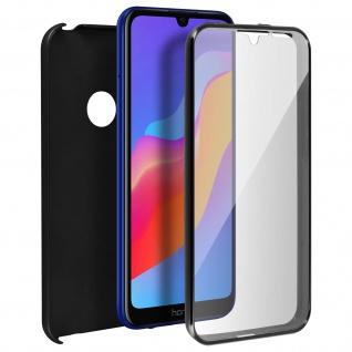 Schutzhülle für Huawei Y6 2019, Vorder- + Rückseite ? Schwarz