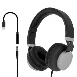 Headset mit USB-C / 3.5 mm Klinkenadapter Eara One by 4Smarts - Schwarz