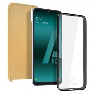 Schutzhülle für Samsung Galaxy A50, Vorder- + Rückseite - Gold