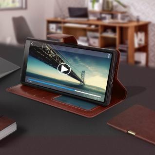 Flip Stand Cover Brieftasche & Standfunktion für Sony Xperia 10 - Braun - Vorschau 4