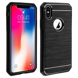 Apple iPhone X, iPhone XS Aluminium Handyhülle mit Silikon Bumper ? Schwarz