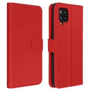 Flip Cover Geldbörse, Etui Kunstleder für Galaxy A42 5G ? Rot